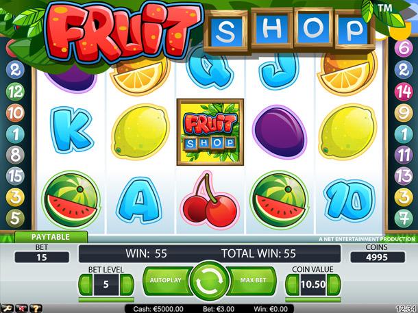 Fruitshop Slots - Spela Fruitshop Slots spel gratis