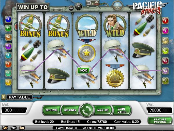 Pacific Attack videogokkast